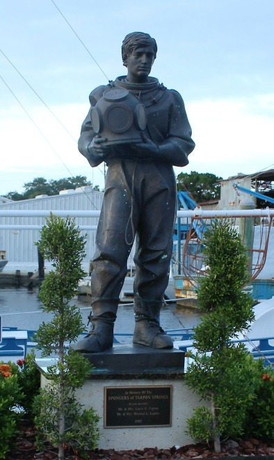Sponger Monument in Tarpon Springs Florida - Things to See Near Hickory Point RV Park
