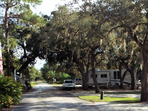 Hickory Point RV Park in Tarpon Springs Florida