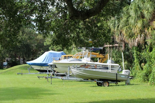 Store your boat while you stay at Hickory Point RV Park