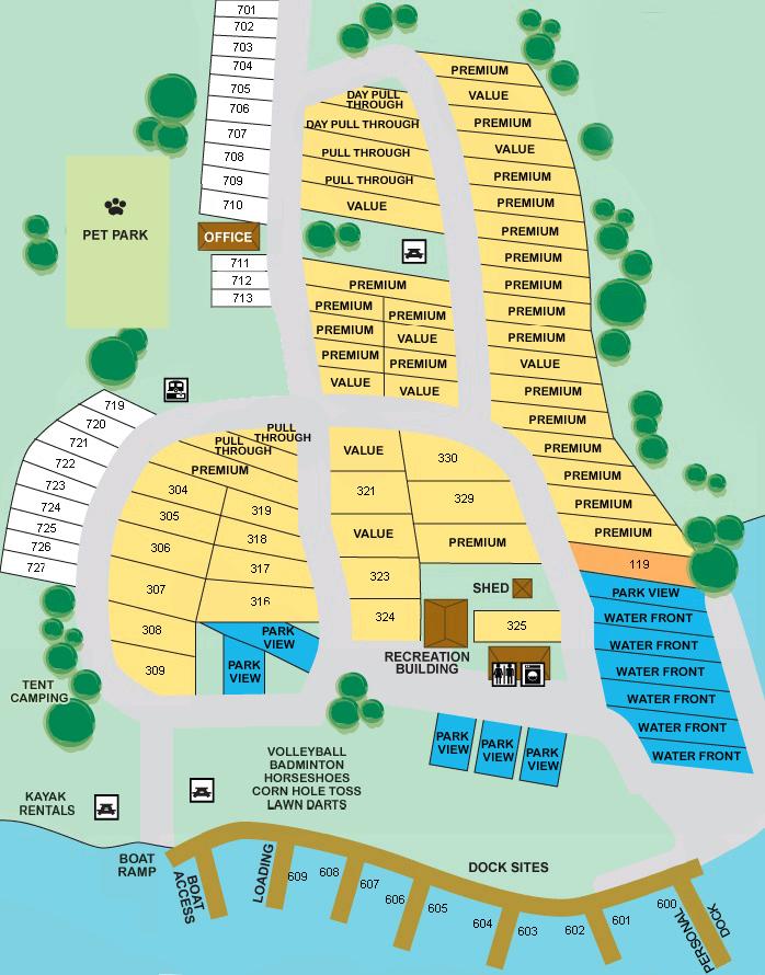 Florida Rv Parks Map Our Park   Hickory Point RV Park